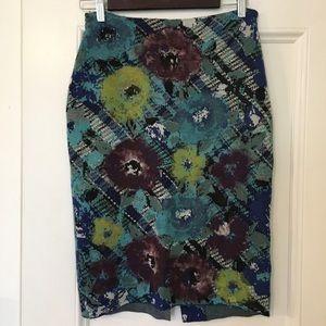 Anthropologie Troubadour Floral Pencil Skirt Sz S